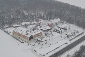 hotelu rubbens & monet zimą