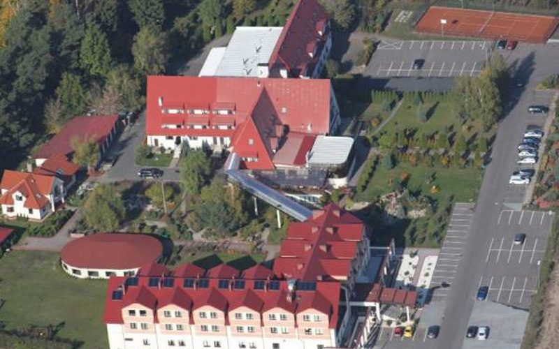 hotel Rubbens & Monet widok z lotu ptaka