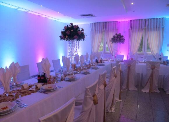 sala kwiatowa - oświetlenie
